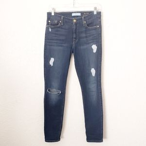 7 For all Mankind The Skinny Ankle Distressed Jean